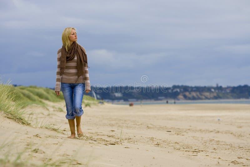 Schönheit u. der Strand stockfotos
