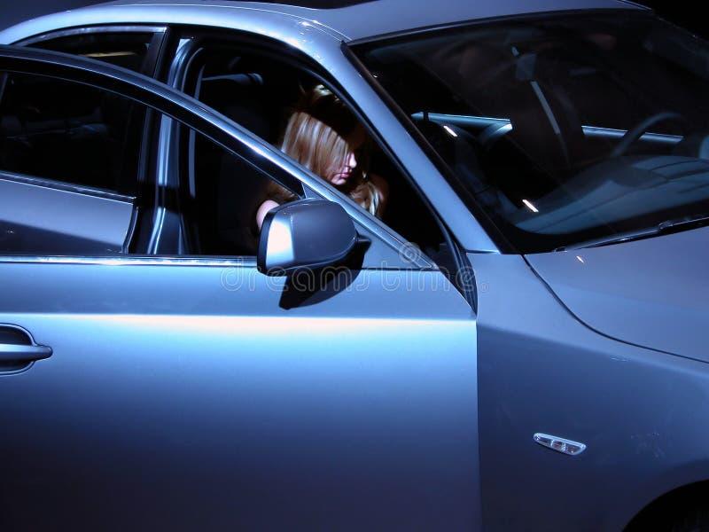 Schönheit Und Ihr BMW-Tier Stockfotos