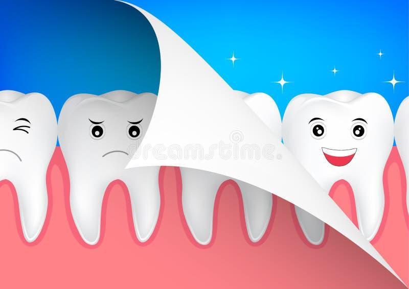 Schönheit und Zahngesundheitskonzept lizenzfreie abbildung