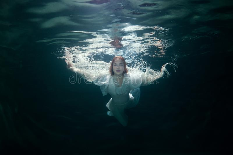 Schönheit unter dem Wasser stockfotografie