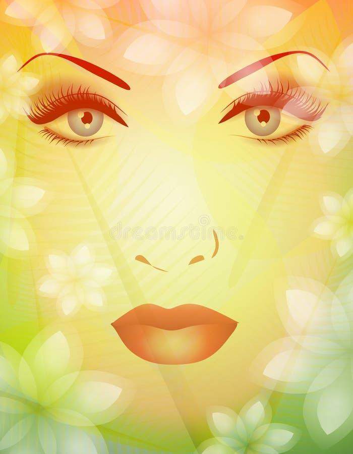 Schönheit von Natur-Frühlings-Gesicht 2 stock abbildung