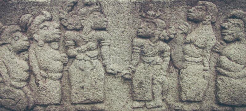 Schönheits-Buddhismus-Entlastung im Tempel stockbilder