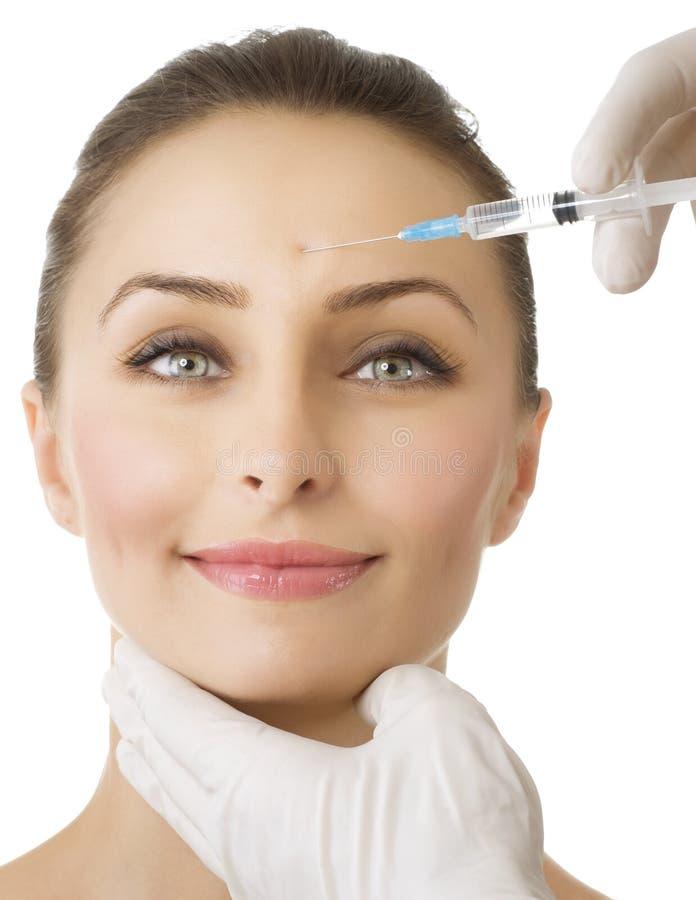 Schönheits-Einspritzung von botox lizenzfreies stockbild