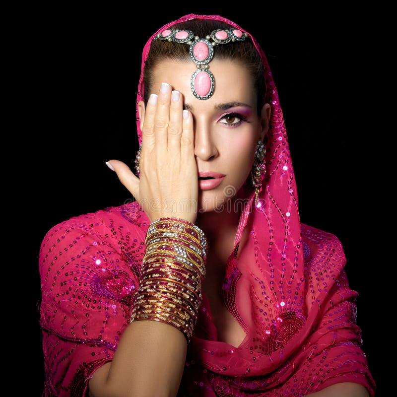 Schönheits-ethnische Frau lizenzfreies stockbild