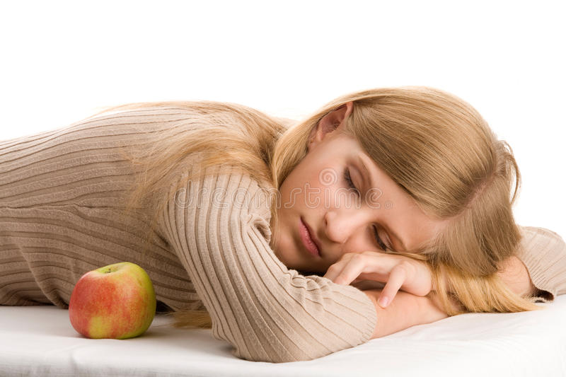 Schönheits-Jugendlicheschlafen lizenzfreies stockfoto