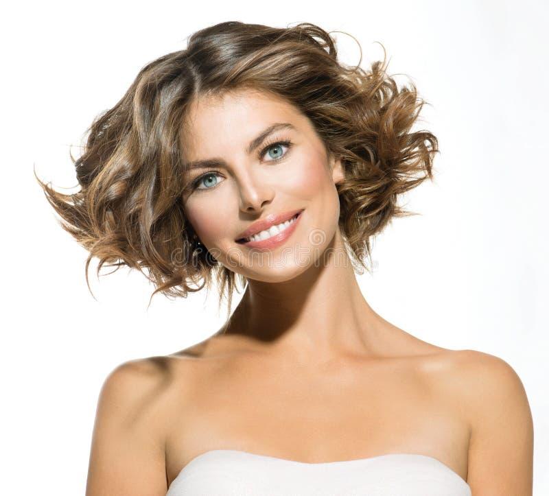 Schönheits-junge Frauen-Porträt stockbild