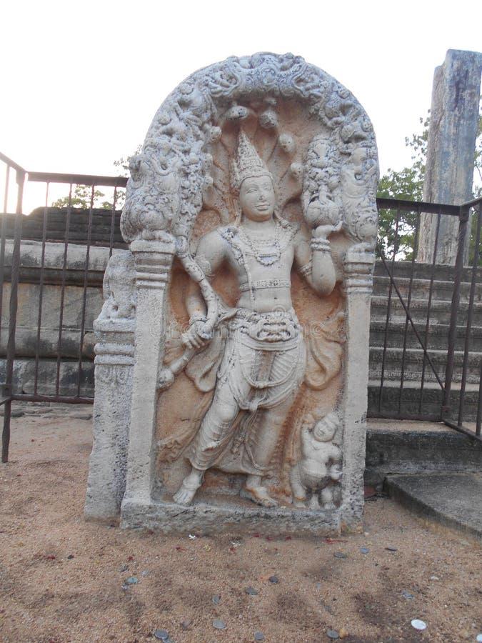 Schönheits-Natur Buddha Anuradhapura Muragala lizenzfreies stockbild