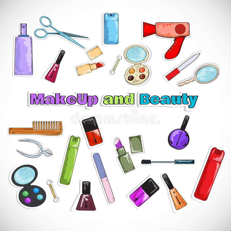Schönheits-Salon-Gekritzel vektor abbildung