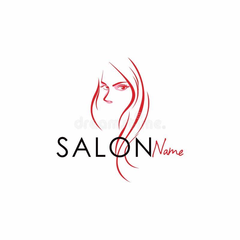 Schönheits-Salon-Linie Art Logo Vector Design vektor abbildung