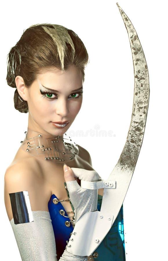 Schönheitsausländerfrau stockbilder