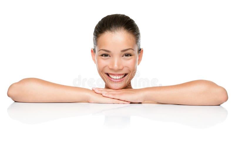 Schönheitsbadekurort-Hautsorgfaltfrau lizenzfreies stockbild