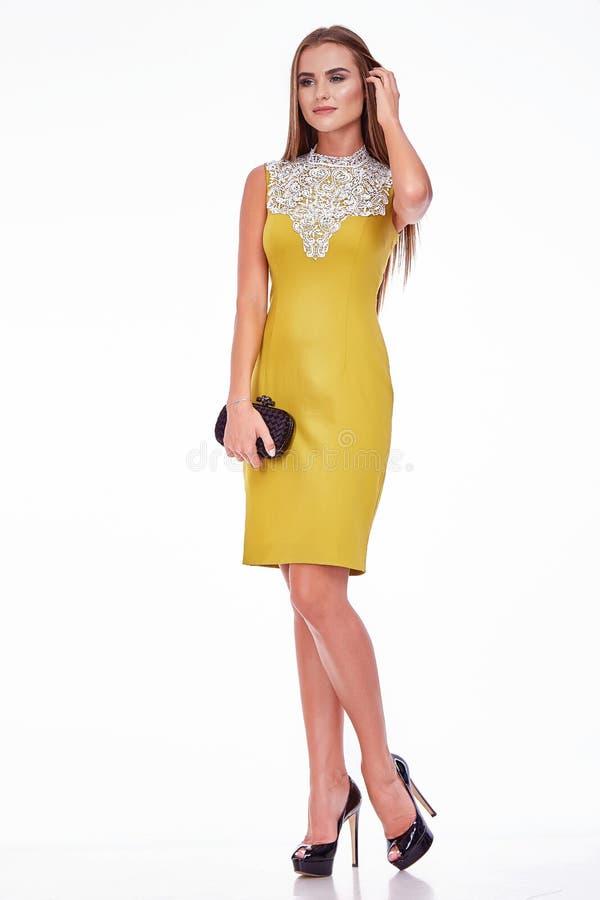 Schönheitsgeschäftsfrau sexy Brunettedame lizenzfreies stockbild