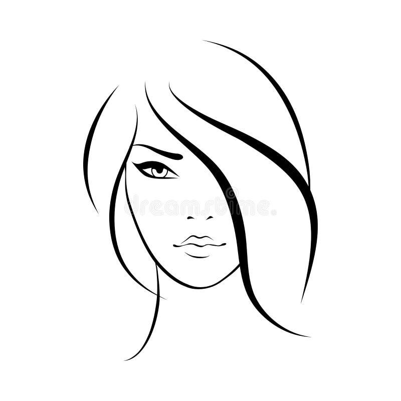 Schönheitsgesichtsikone lizenzfreie abbildung