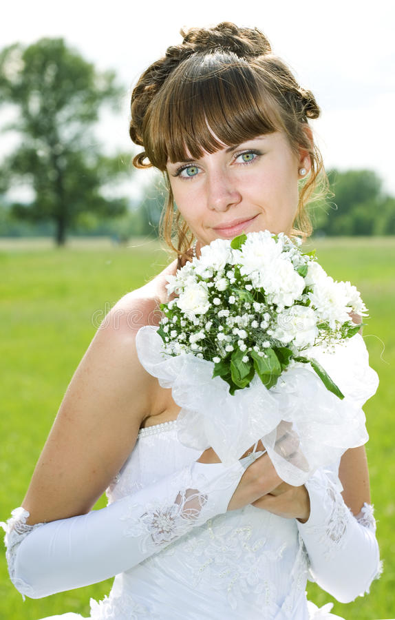 Schönheitsgruppe der Braut lizenzfreie stockbilder