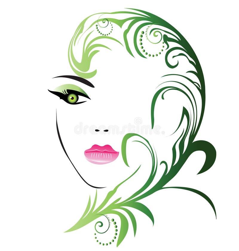 Schönheitsmädchengesicht lizenzfreie abbildung