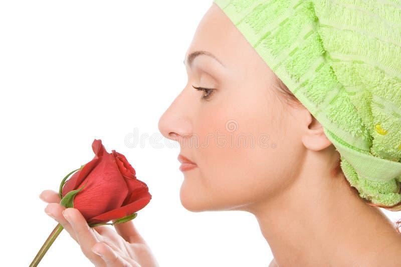 Schönheitsnahaufnahme-Badekurortfrau lizenzfreies stockfoto