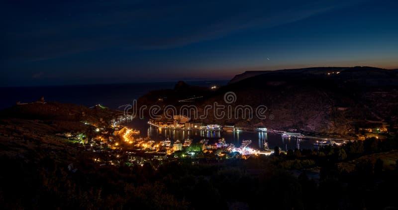 Schönheitsnatur-Seelandschaft Krim Balaklava; Sewastopol stockbild