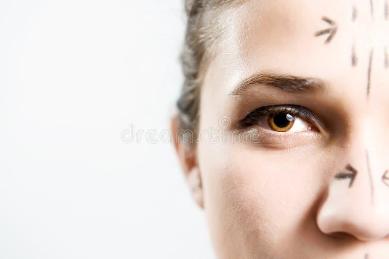 Schönheitsoperationpatient lizenzfreies stockbild