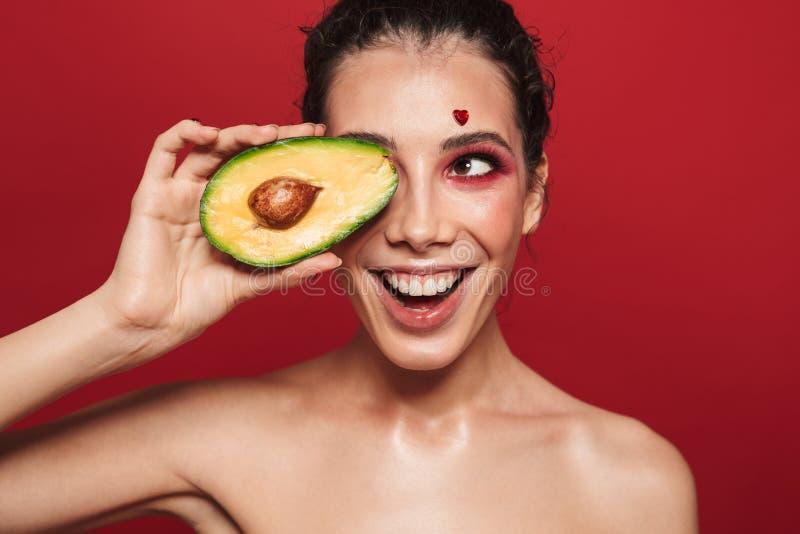 Schönheitsporträt einer attraktiven jungen Frau lizenzfreie stockfotos