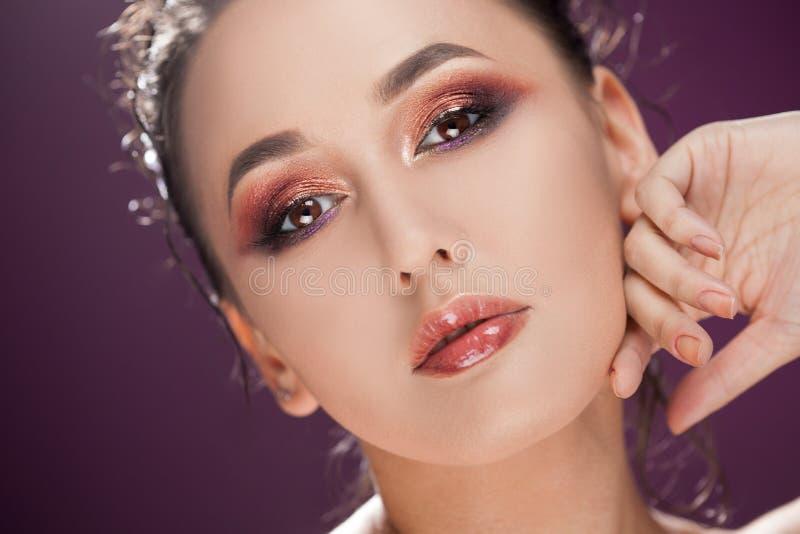 Schönheitsporträt von jungen attraktiven Frauen lizenzfreies stockfoto