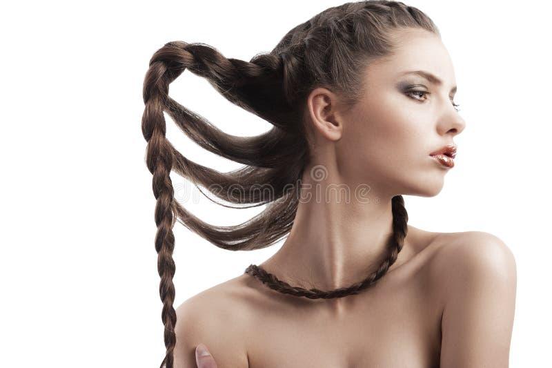 Schönheitsportrait eines schönen Brunette stockfoto
