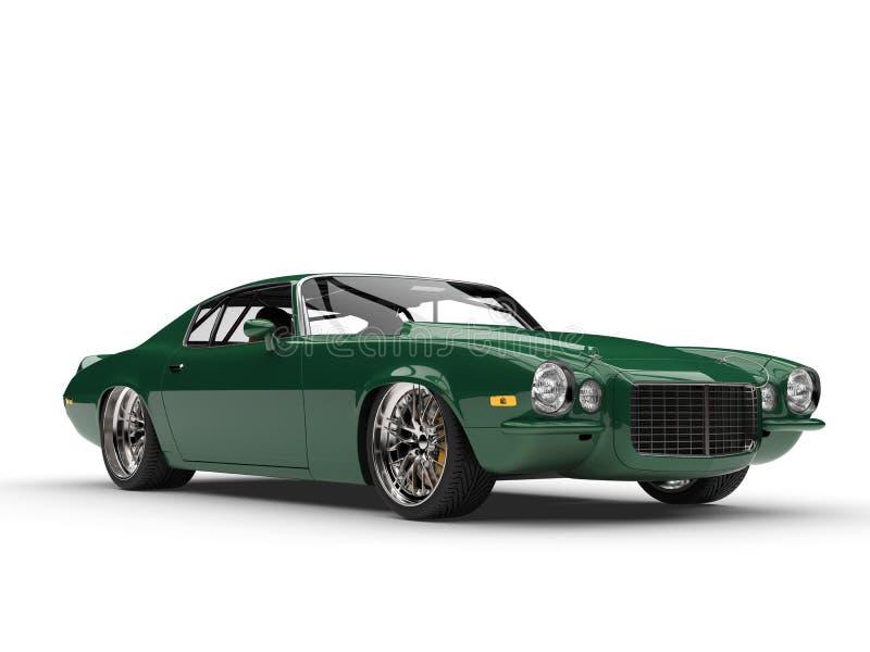 Schönheitsschuß der klassischen Weinlese des Smaragdgrüns amerikanischer Motor- vektor abbildung
