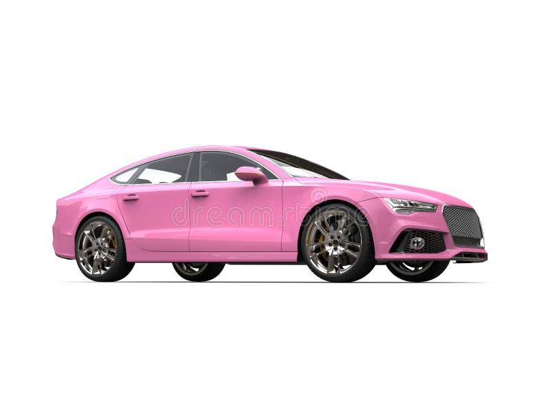 Schönheitsschuß des rosa modernen Geschäfts der Süßigkeit Motor- lizenzfreie abbildung