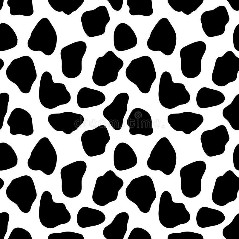 Schüchtern Sie nahtloses Muster, abstrakten Vektorhintergrund mit schwarzen Flecken ein lizenzfreie abbildung