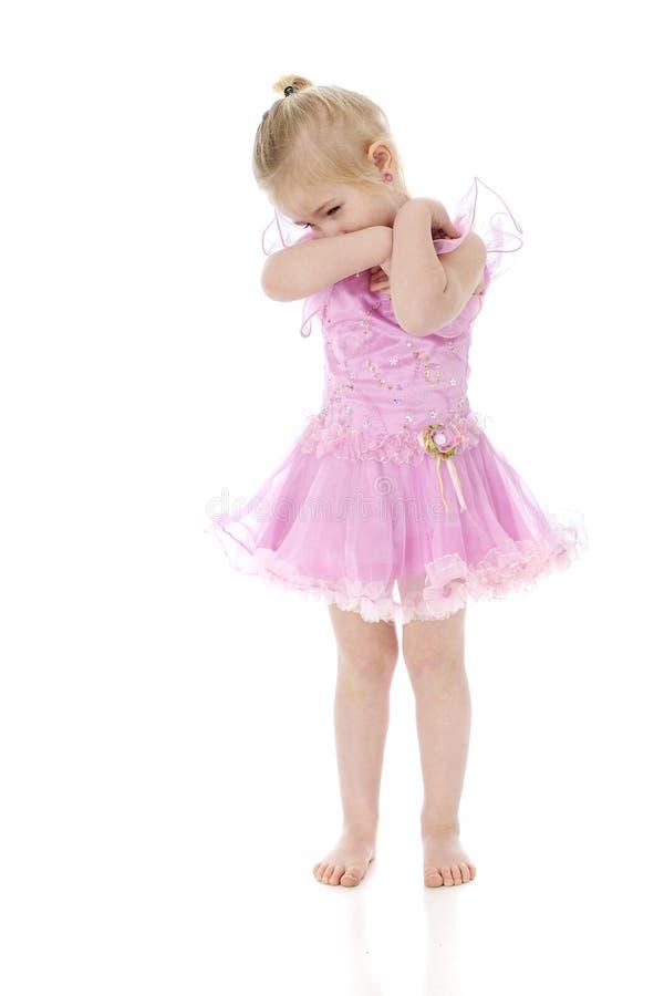 Schüchterne Ballerina lizenzfreies stockfoto