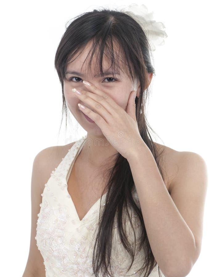 Schüchterne Braut stockbilder