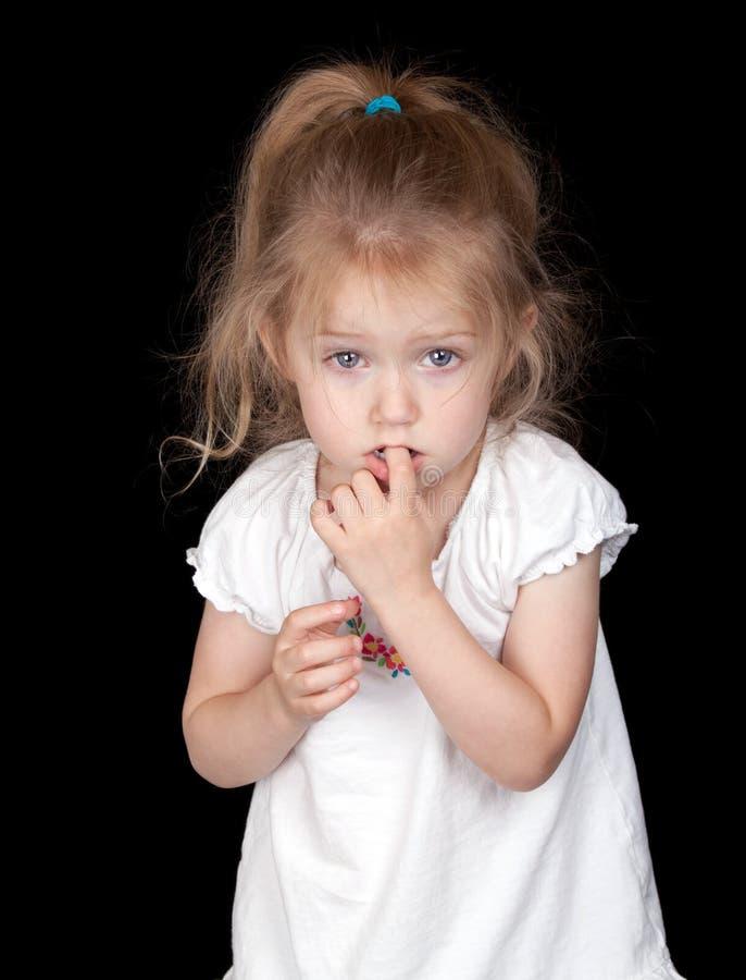 Schüchternes Mädchen stockfoto