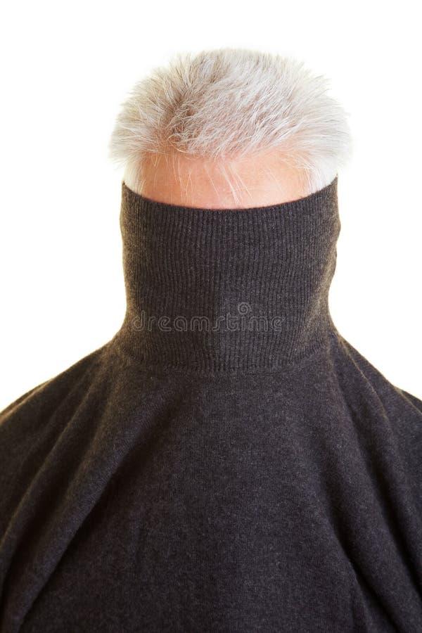 Schüchternes Mannverstecken lizenzfreie stockbilder
