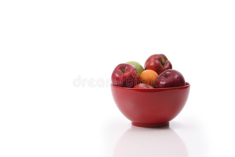 Schüssel Äpfel Stockfotos