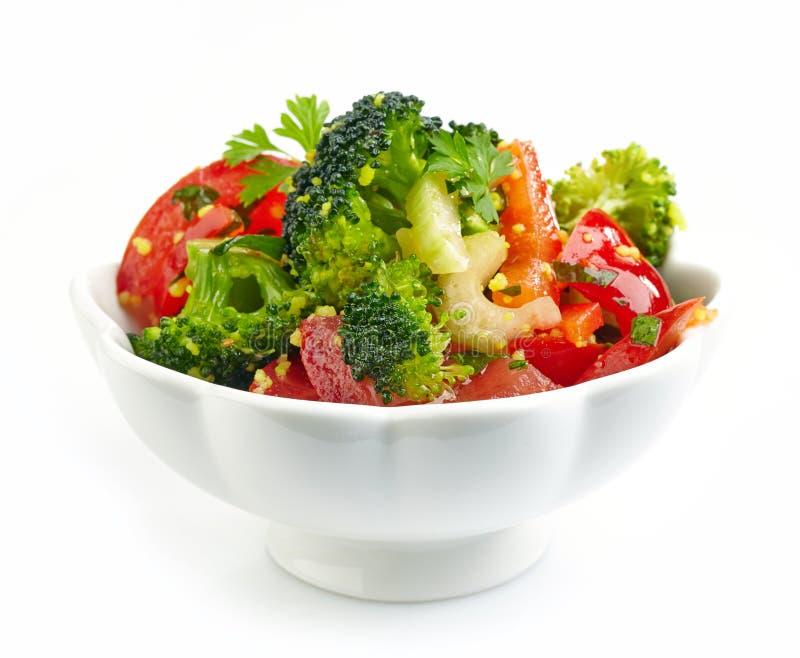 Schüssel Gemüsesalat lizenzfreies stockfoto