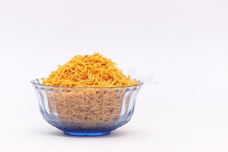 Schüssel indisches Snacklebensmittel lizenzfreies stockbild
