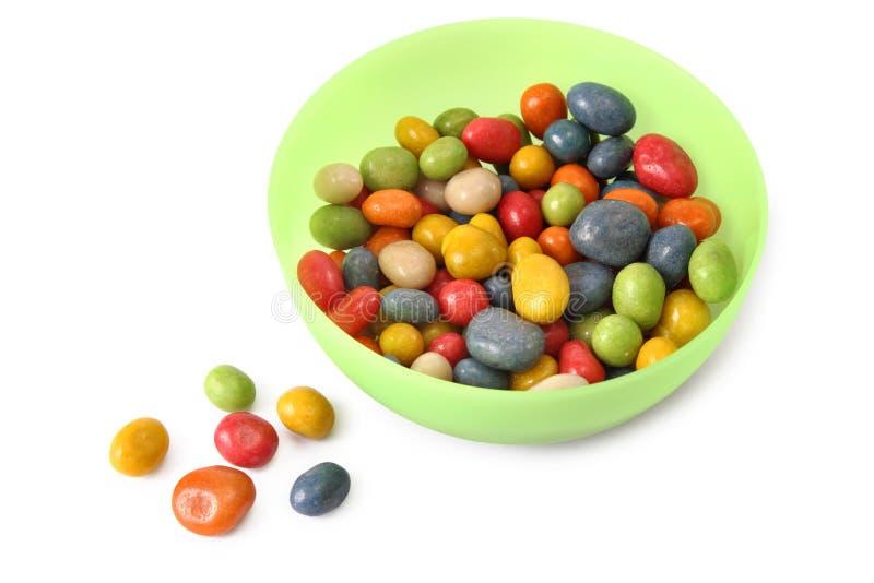 Schüssel mit Süßigkeit lizenzfreies stockfoto