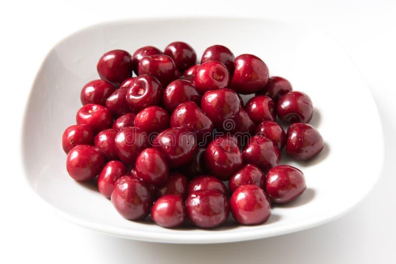 Schüssel rote neue cerries stockbilder