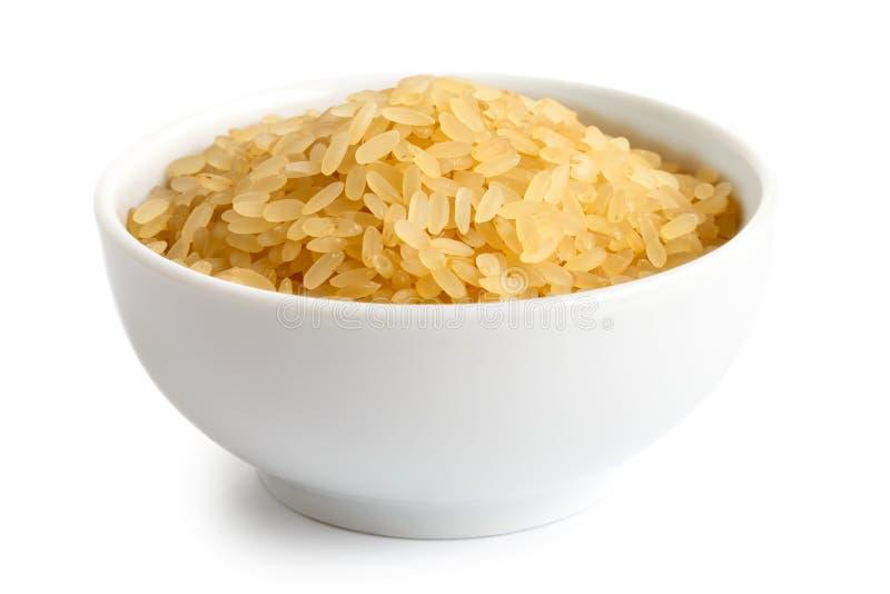 Schüssel Sprödigkeit angekochter Reis lizenzfreie stockfotos