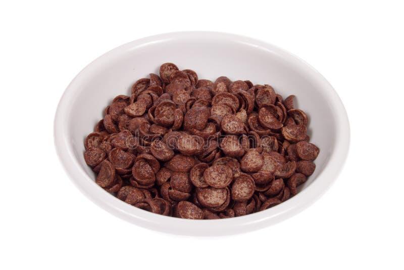 Schüssel von den SchokoladenCorn Flakes stockfoto