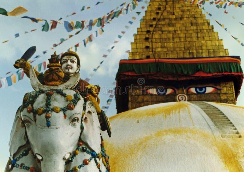 Schützen des Tempels stockbilder
