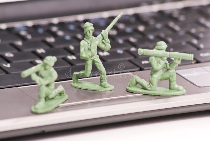 Schützen Ihres PC stockfoto