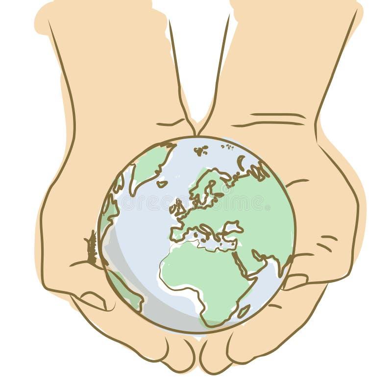 Schützen Sie den Planeten stock abbildung