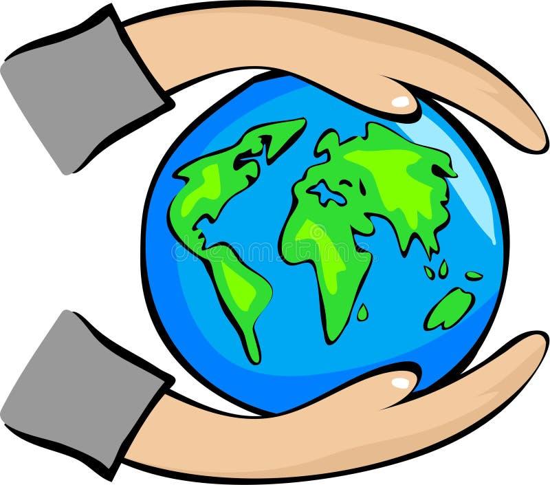 Schützen Sie die Erde lizenzfreie abbildung