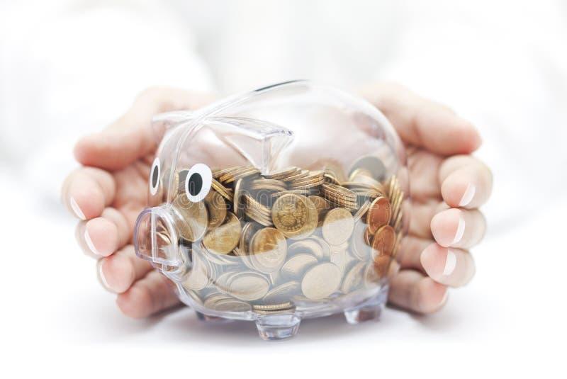 Schützen Sie Ihr Geld lizenzfreies stockfoto