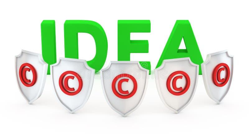 Schützen Sie Ihre Idee lizenzfreie abbildung