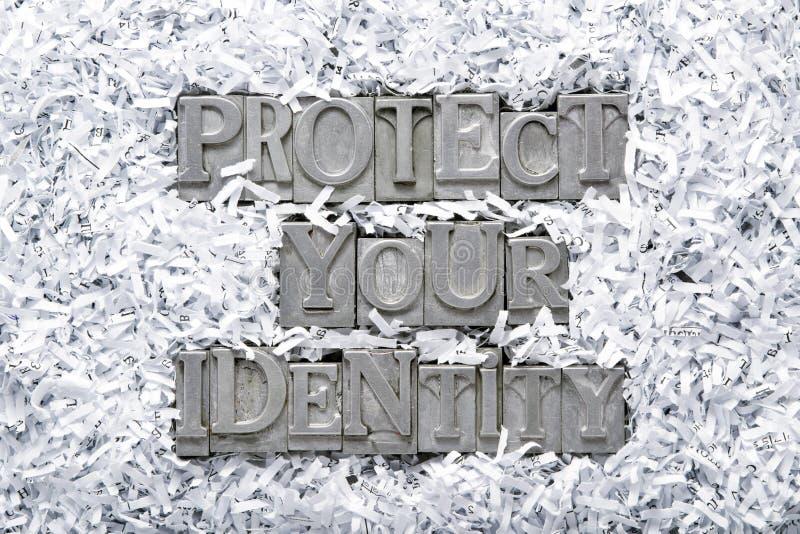 Schützen Sie Ihre Identität stockbild