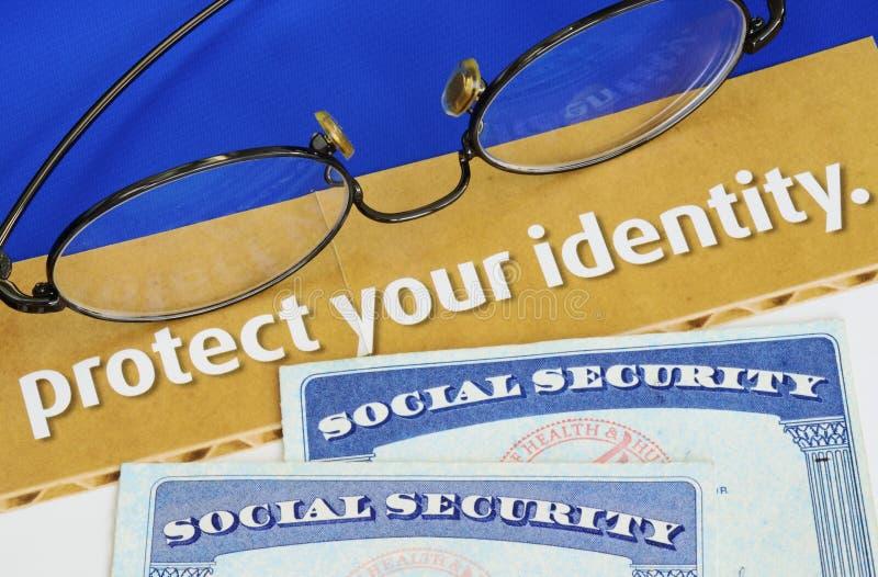 Schützen Sie persönliche Identität lizenzfreies stockbild