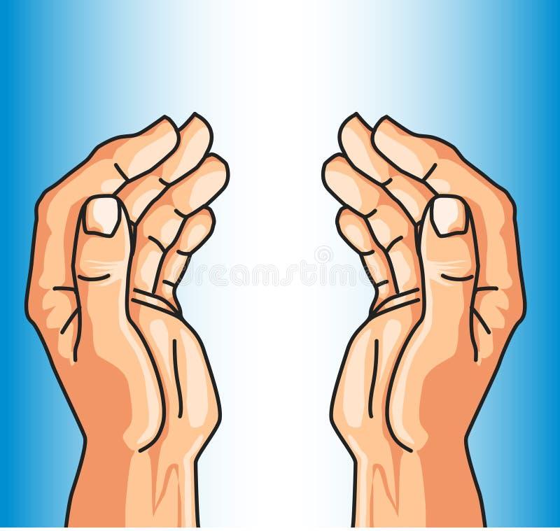 Schützende Hände des Glaubens stock abbildung