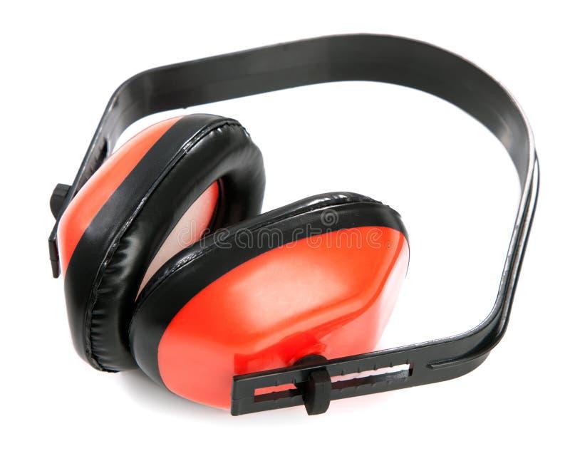Schützende Ohrenpfropfen stockbilder