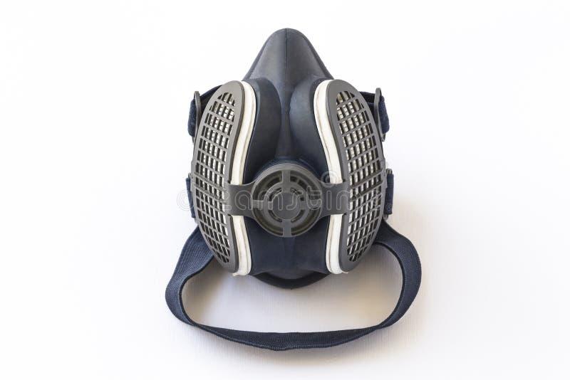 Schützende Sicherheitsmaske auf einem weißen Hintergrund isoliert stock abbildung